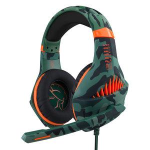 Phobos Warrior Gaming headset - Multiformat (PS4/PC/XBOX/Switch) - 3.5 mm jack - Camo groen
