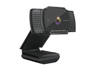 Conceptronic AMDIS02B webcam 5 MP 2592 x 1944 Pixels USB 2.0 Zwart