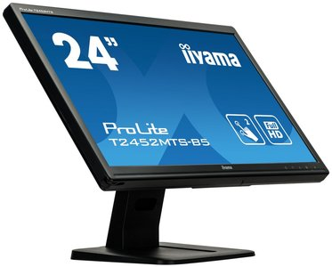 "iiyama ProLite T2452MTS-B5 touch screen-monitor 59,9 cm (23.6"") 1920 x 1080 Pixels Dual-touch Zwart"